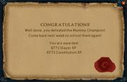 Mummy Champion reward