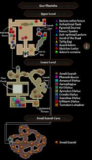 Uzer Mastaba map