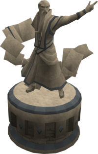 Engraved magic statue