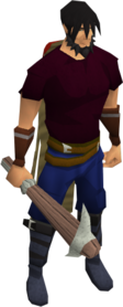 Pickaxe (class 3) equipped