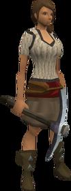 Bathus pickaxe equipped