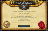 Invention Tutorial reward