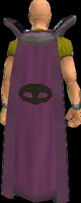 Retro thieving cape equipped