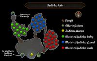 Jadinko Lair map