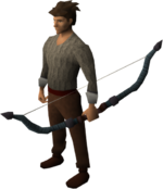 Magic composite bow equipped