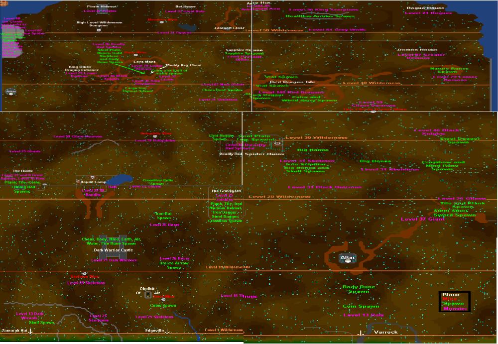 wilderness map runescape classic wiki fandom powered by wikia
