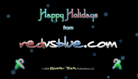 Happy Holidays from Red vs. Blue