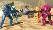 Red & Blue Team huddle