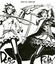 Preview illustration of Ruby and Naoto Fuyumine