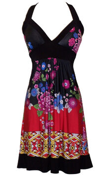 Asian style floral dress
