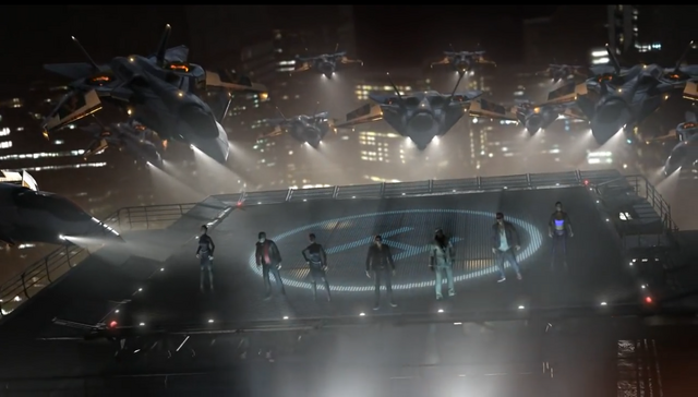 File:F-69 VTOLs in the Saints Row The Third Power Trailer.png