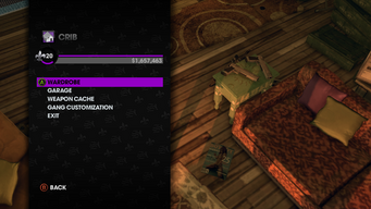 Crib Menu in Saints Row The Third