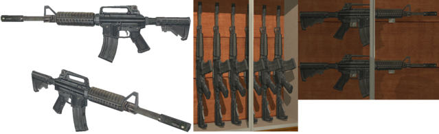 File:M4A1 in model viewer and Friendly Fire in Saints Row 2.png