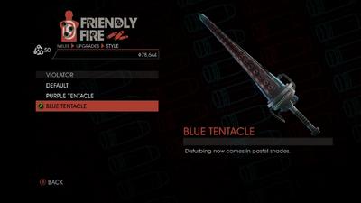 Weapon - Melee - Tentacle Bat - Violator - Blue Tentacle