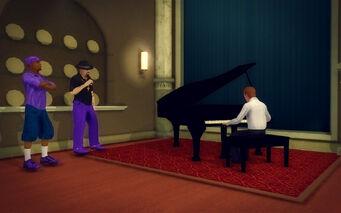 Downtown Loft - Modern - piano