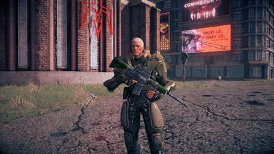 Cyrus standing with Shokolov AR
