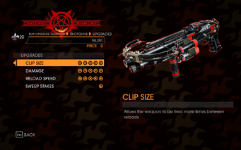Gat out of Hell - Pump-Action Shotgun - Upgrades