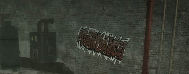 File:Drug Factory - interior Los Carnales graffiti in Saints Row 2.png