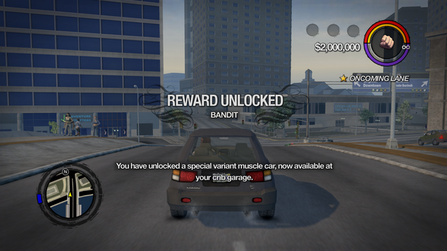 File:Driving Stunts - Bandit unlocked in Saints Row 2.png