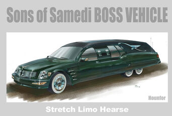 The Sons of Samedi Stretch Limo Hearse Concept Art
