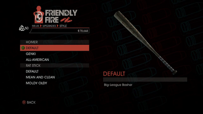 Weapon - Melee - Baseball Bat - Homer - Default