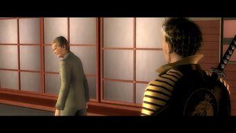 Kanto Connection - Kazuo Akuji turning towards Shogo Akuji