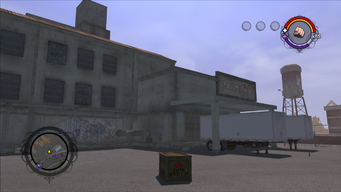 Drug Factory front exterior from the north west in Saints Row