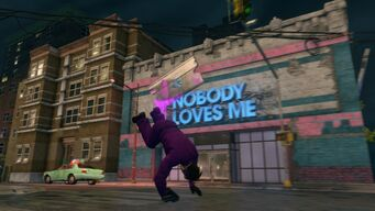 Nobody Loves Me exterior in Saints Row The Third
