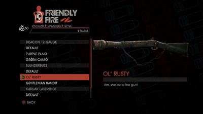 Weapon - Shotguns - Pump-Action Shotgun - Blunderbuss - Ol' Rusty