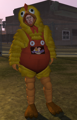 Chicken Ned - full body and face