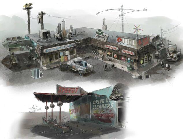 File:Trailer Park District Concept Art - laundry and liquor store.jpg