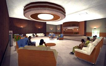 Saints Row Mega Condo - ground floor seating