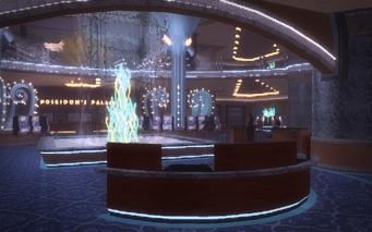 Poseidon's Palace interior from inside main entrance