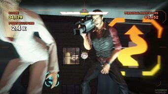 Saints Row Money Shot - Dex's New Digs - flying through helicopter
