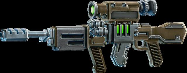 File:SRIV Rifles - Automatic Rifle - EM Railgun - Default.png
