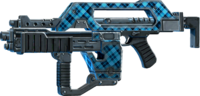 SRIV Rifles - Burst Rifle - Impulse Rifle - Blue Plaid