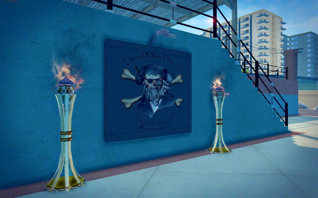 File:Centennial Beach in Saints Row 2 - Dead Man Dave's Grog and Gruel Restaurant sign.jpg