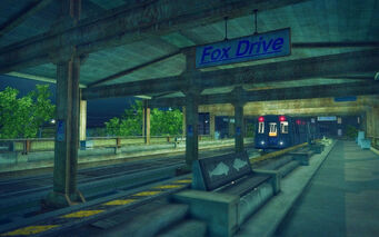 Fox Drive in Saints Row 2 - train at station