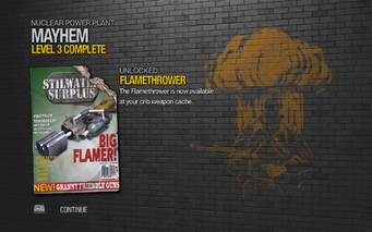 Flamethrower unlocked by Mayhem level 3 in Saints Row 2