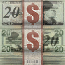 File:Cash - stack of 20 dollar bills in Saints Row 2.png