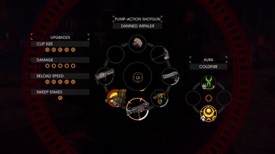 Gat out of Hell Gameplay Demo 0900 Weapon - 'Pump-Action Shotgun' (Costume - 'Damned Impaler')