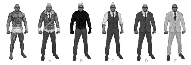 File:Johnny Gat Concept Art - Super Homie - six versions.jpg
