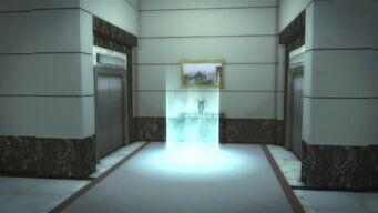 Heron Hotel - interior lobby elevators