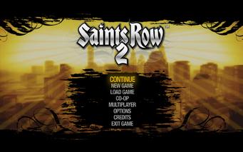 Main Menu in Saints Row 2