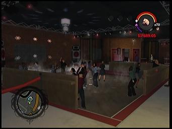 On Track dance floor in Saints Row