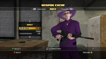 Saints Row Weapon Cache - Rifle - AR-40 Xtnd