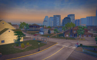 Misty Lane in Saints Row 2 - suburbs