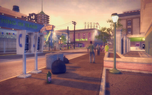 File:Cecil Park in Saints Row 2 - payphones and trash.jpg