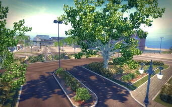 Sommerset in Saints Row 2 - Sommerset Apartments garden