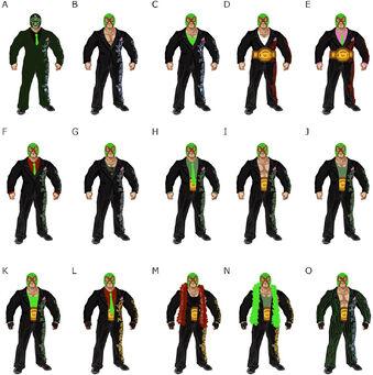 Killbane concept art - 15 alternate outfits